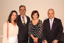 Wallace ao lado de sua esposa Roh, Carlos Souto e a vereadora Cassinha